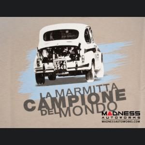Classic ABARTH T Shirt - Vintage Design - La Marmitta Campione Del Mondo