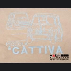 ABARTH Pullover w/ Hood - Latte w/ Brown & Aqua Accents - Piccola & Cattiva