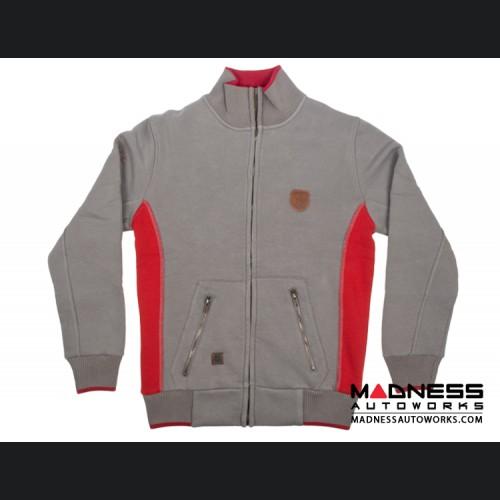ABARTH Zippered Jacket - Grey w/ Red - Piccola & Cattiva