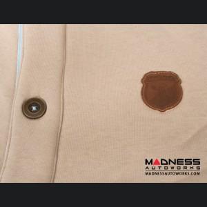 ABARTH Buttoned Jacket - Latte w/ Brown Accents - Piccola & Cattiva