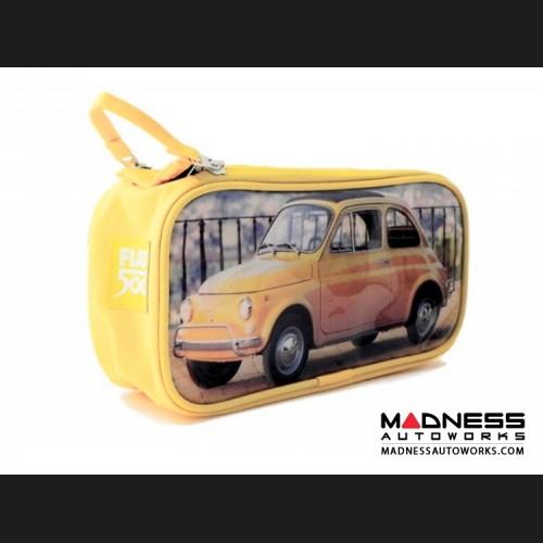 Classic Fiat 500 Beauty Case - PVC - Yellow