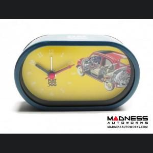 Classic Fiat 500 Alarm Clock - Outline