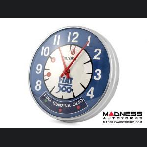 Classic Fiat 500 Wall Clock - Blue