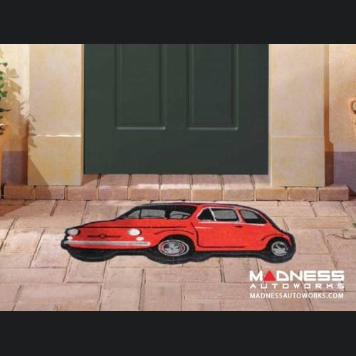 Classic Fiat 500 Doormat - Red