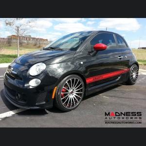 "FIAT 500 Custom Wheels - Competizione - Enzo Design - 17"" - Polished Face/ Gloss Black Back"