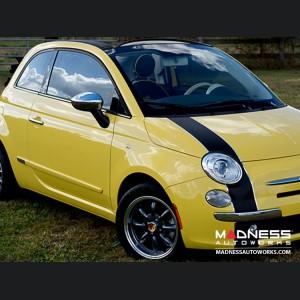 "FIAT 500 Custom Wheels - Monza 15x6.5"" 4-98 BP (Hyper Black Finish)"
