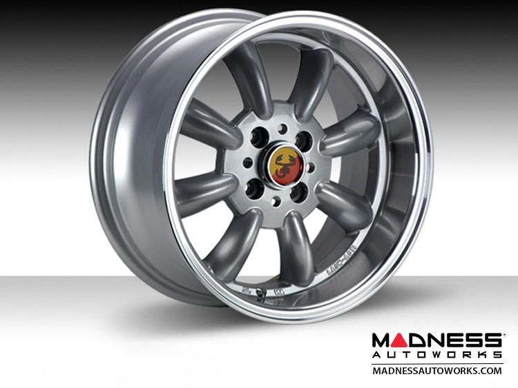 "FIAT 500 Custom Wheels - Monza 15x7.5"" 4-98 BP (Silver Finish)"