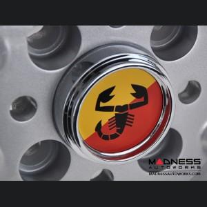 "FIAT 500 Custom Wheels - Monza - 15x6.5"" 4-98 - Silver Finish"
