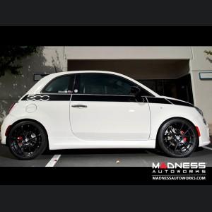 "FIAT 500 Custom Wheels - Competizione CV-2 - Matte Black Finish - 17"""