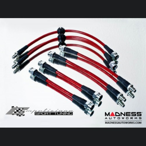 FIAT 500 Brake Lines - Competizione Sport Tuning Stainless Steel Brake Line Kit