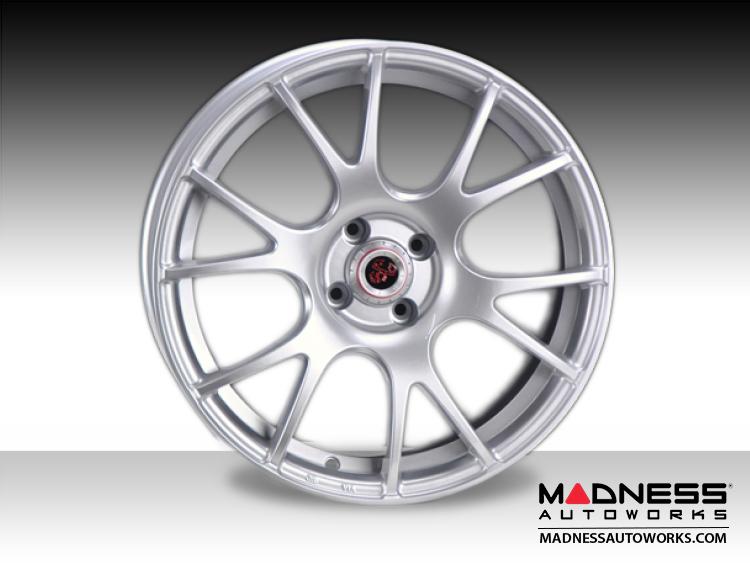 """FIAT 500 Custom Wheels - Competizione CV-2 - Silver Finish - 17"""""""