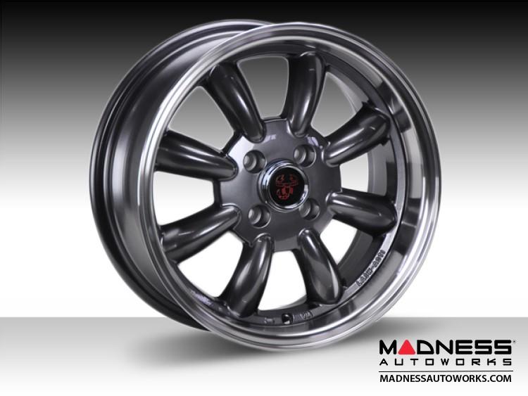 "FIAT 500 Custom Wheels - Monza 15x6.5"" 4-98 BP (Gunmetal Finish)"