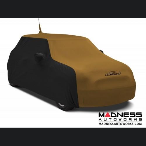 FIAT 500 Custom Vehicle Cover - Indoor Satin Stretch - Black w/ Hertz Gold