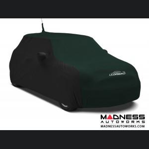 FIAT 500 Custom Vehicle Cover - Indoor Satin Stretch - Black w/ British Racing Green