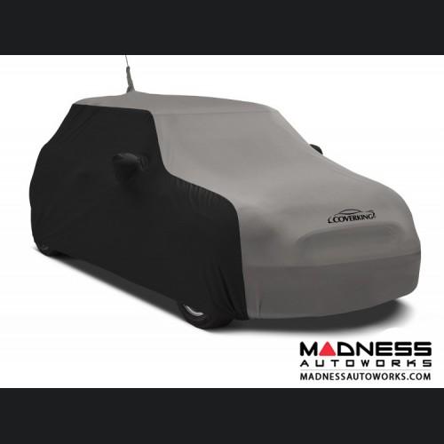 FIAT 500 Custom Vehicle Cover - Indoor Satin Stretch - Black w/ Gray