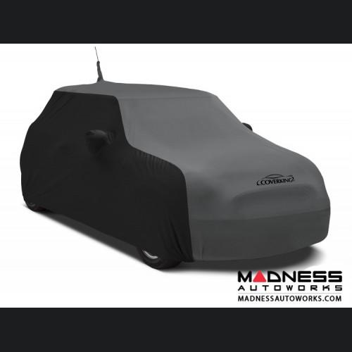FIAT 500 Custom Vehicle Cover - Indoor Satin Stretch - Black w/ Metallic Gray