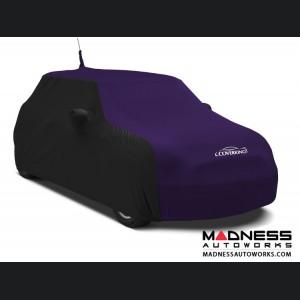 FIAT 500 Custom Vehicle Cover - Indoor Satin Stretch - Black w/ Plum Crazy Purple