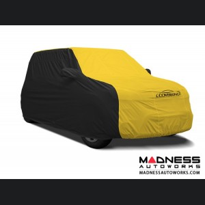 FIAT 500 Custom Vehicle Cover - Stormproof - Black w/ Yellow Center