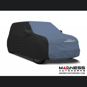 FIAT 500 Custom Vehicle Cover - Stormproof - Black w/ Blue Center