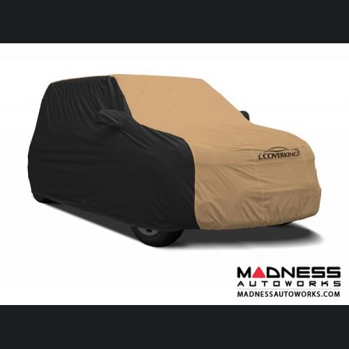 FIAT 500 Custom Vehicle Cover - Stormproof - Black w/ Tan Center
