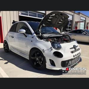 FIAT 500 Front Spoiler - Carbon Fiber - Italian Stripe w/ ABARTH