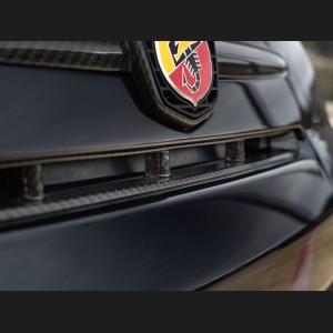 FIAT 500 Front Bumper Grill Insert - Carbon Fiber - NA Model