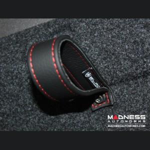 FIAT 500 Trunk Handle / Pull Strap - Black w/ Red Stitch