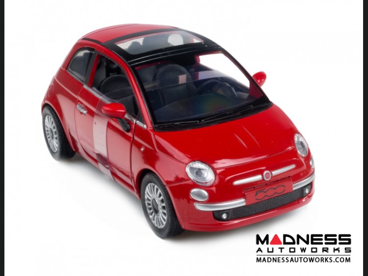 fiat 500 die cast model 1 24 scale lounge red new ray fiat 500 parts and accessories. Black Bedroom Furniture Sets. Home Design Ideas