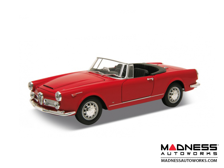 Alfa Romeo Spider 2600 - 1960 Soft Top Convertible (Down) - Red 1:24