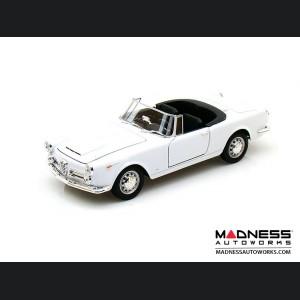 Alfa Romeo Spider 2600 - 1960 Soft Top Convertible (Down) - White 1:24