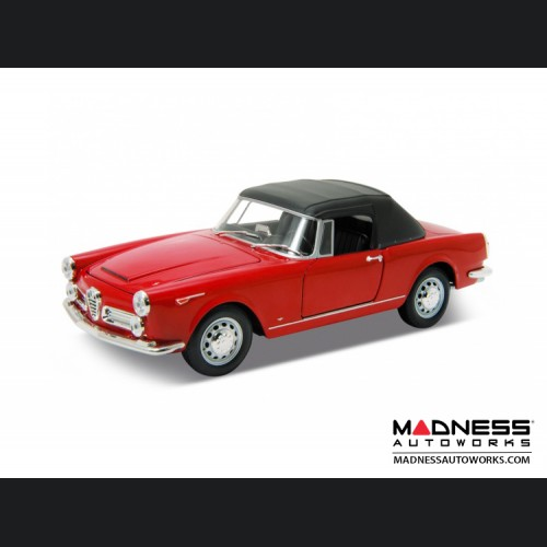 Alfa Romeo Spider 2600 - 1960 Soft Top Convertible (Up) - Red 1:24