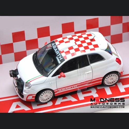 FIAT 500 ABARTH Die Cast Model 1/24 Scale -  R3T Rally by Mondo Motors