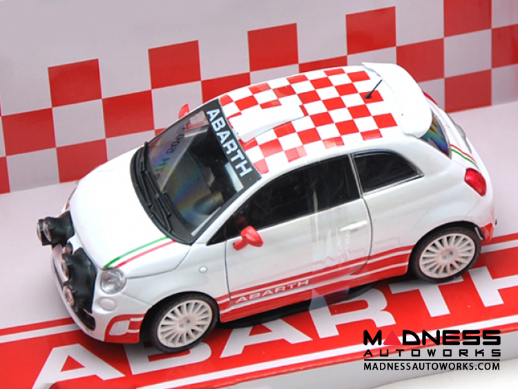 fiat 500 abarth die cast model 1 24 scale r3t rally by. Black Bedroom Furniture Sets. Home Design Ideas