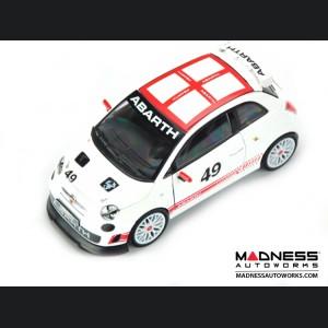 FIAT 500 ABARTH Assetto Corse - Die Cast Model - White (1/24 scale) by Bburago