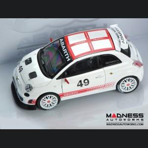 FIAT 500 ABARTH Assetto Corse - Die Cast Model - White (1/24 scale) by Motorama