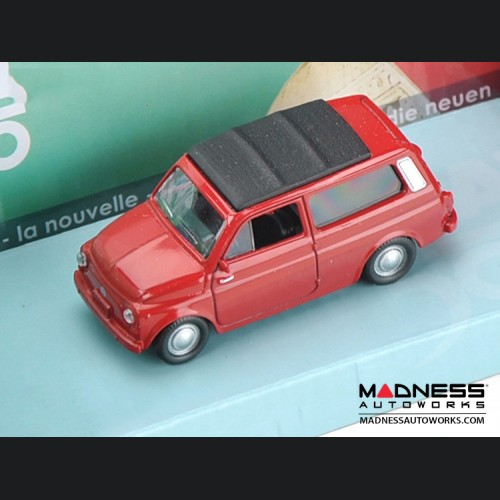 Fiat 500 Classic Die Cast Model (1/43 scale) - Nuova 500 Giardinetta - Red