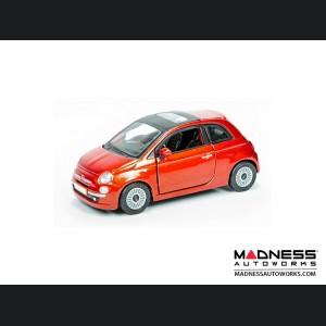 FIAT 500 Diecast Model 1/24 scale - Burnt Orange by Bburago
