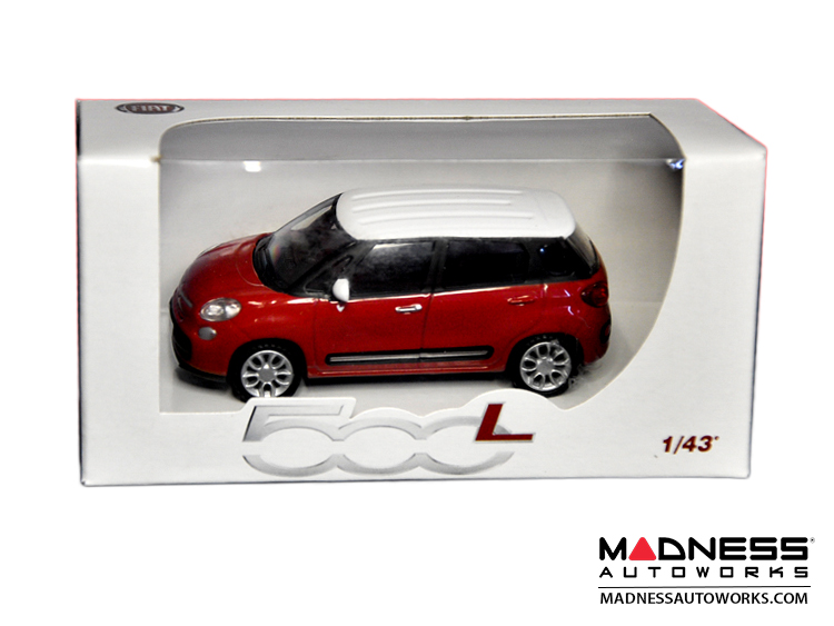 FIAT 500L Die Cast Model (1/43 scale) - Red w/ White Top by FIAT