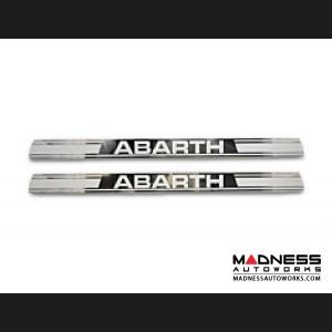 FIAT 500 Door Sills by BLACK - ABARTH Logo - Machined