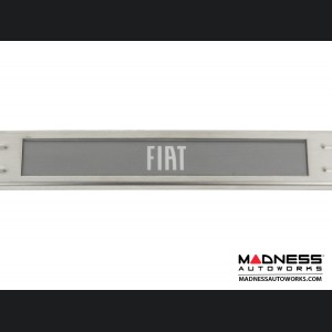 FIAT 500 Door Sills - Wireless LED Lighted - Brushed SS w/ FIAT Logo