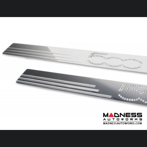 FIAT 500 Door Sills - Stainless Steel - 500 in Swarowski Crystals
