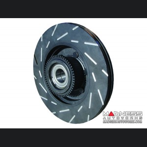 FIAT 500 Brake Rotors - EBC - Slotted - Front - 1.4L Multi Air Turbo Engine