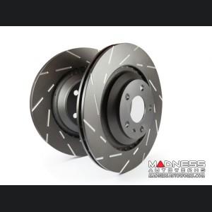 FIAT 124 Brake Rotors - EBC - USR Slotted - Rear Set