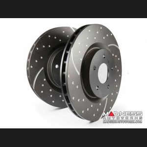 FIAT 500 Brake Rotors by EBC - Slotted / Dimpled - Front Set - 1.4L Multi Air Turbo Engine