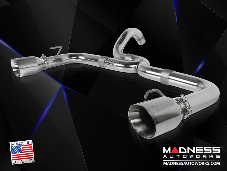 FIAT 500 Performance Exhaust - MADNESS - 1.4L Turbo - Axle Back - Dual Exit - Polished Slash Cut Tips
