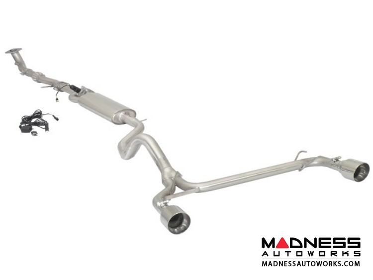 FIAT 500 ABARTH Performance Exhaust - Ragazzon - Evo Line - Electronic Bypass Center/ Straight Rear/ Dual Sport Line Tip