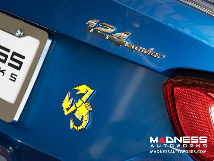 FIAT 124 ABARTH Scorpion Badge - Yellow