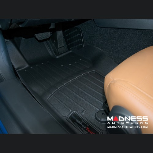 FIAT 124 Floor Liner Set - All Weather Thermoplastic - Black - Standard