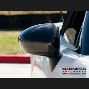 FIAT 124 Mirror Covers - Carbon Fiber - Feroce