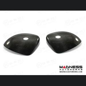 FIAT 124 Mirror Covers - Carbon Fiber